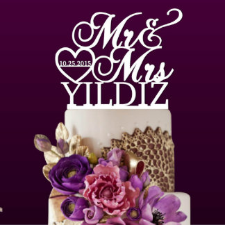 Personalized Wedding Couple Cake Topper