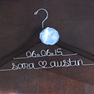 Personalized Wedding Date Hanger
