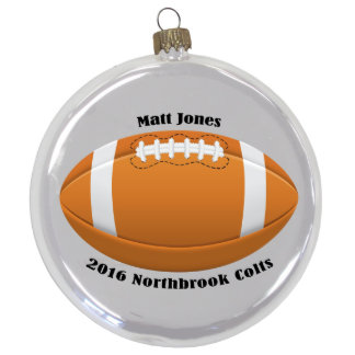 "3 1/2"" Round Football Ornament"