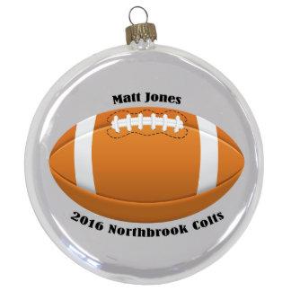 "3 1/2"" Round Football Ornament"