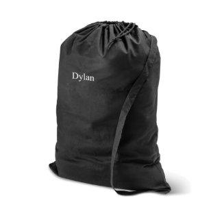 Personalized 100% Cotton Laundry Bag - Black
