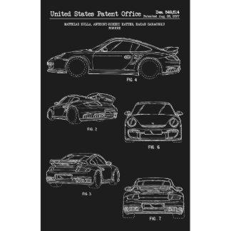Porsche 911 Turbo 11x17 US Patent Screen Print