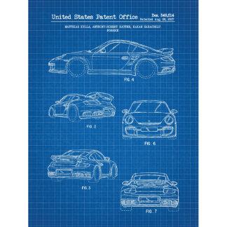 Porsche 911 Turbo 8.5x11 US Patent Blueprint