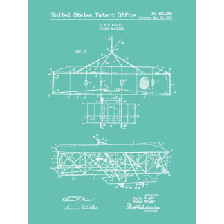 18x24 Vintage Wright Bros. Flying Machine Print