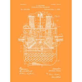 Type Writing Machine Vintage Print