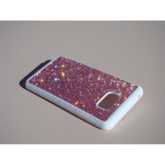 samsung Galaxy Note 5 white Rubber Pink Crystals