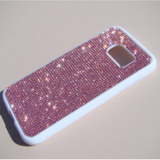 Samsung Galaxy S7 Rubber Case w/Rhinestones