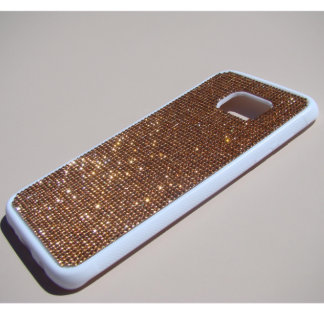Samsung Galaxy S7 Edge Rubber w/Rose Gold Crystals