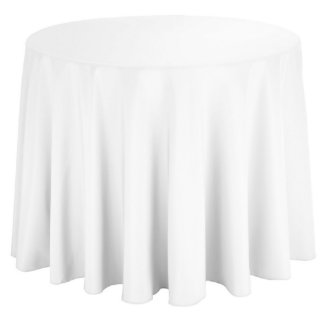 Round White Event Banquet Table Cloth