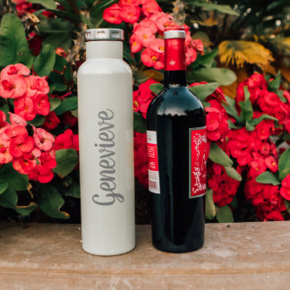 Personalized Wine Growler - 25oz Insulated Bottle