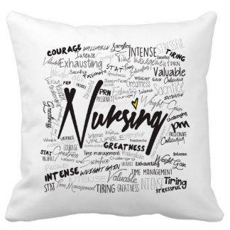 18x18 Nurses Hand Made White Pillow