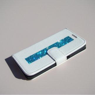 Samsung Galaxy S6 W Wallet, Aquamarine Crystals