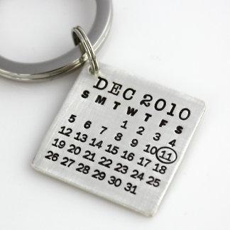 Marque su llavero del calendario