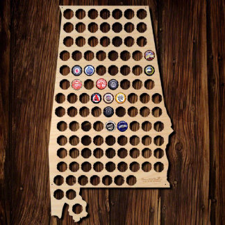 Alabama Beer Cap Map