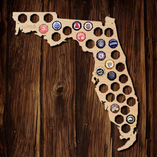 Florida Beer Cap Map
