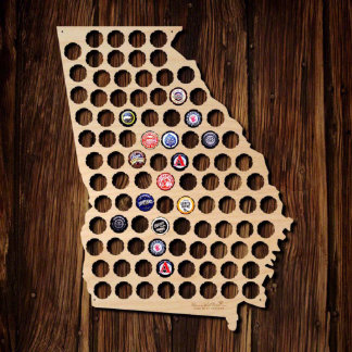 Georgia Beer Cap Map
