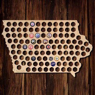 Iowa Beer Cap Map
