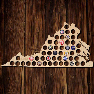 Virginia Beer Cap Map