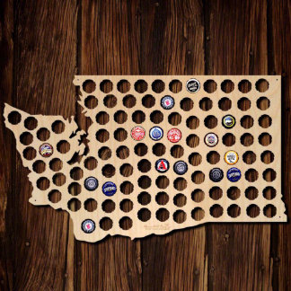 Washington Beer Cap Map