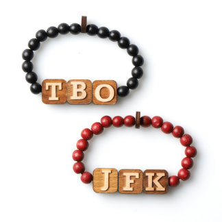 2 Pack Alpha Numeric Bracelets by GoodWoodNYC Bracelet