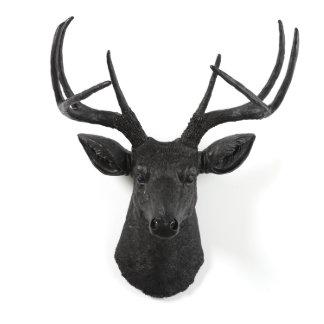 Black Decorative Stag Deer Head