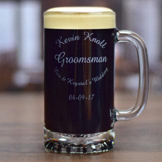 Personalized Groomsman Beer Mug 16 & 25 oz.