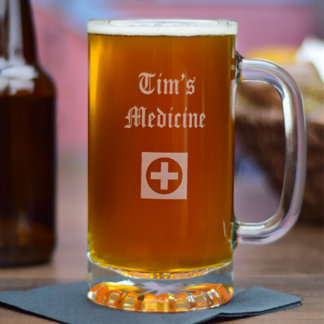 Personalized Beer Stein w/Name & Graphic