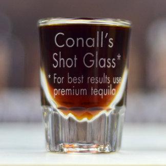 Personalized Shot Glass w/Custom Name & Phrase