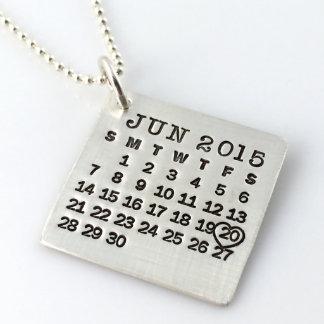 Marque su collar del calendario