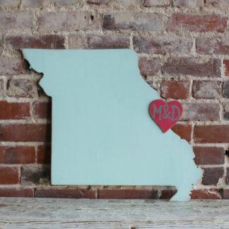 Custom Missouri Wooden Wedding Guestbook
