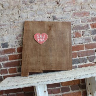 Custom New Mexico Wooden Wedding Guestbook