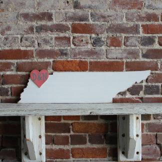 Custom Tennessee Wooden Wedding Guestbook