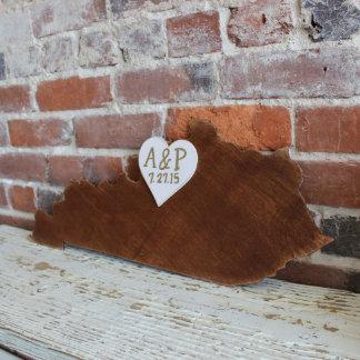 Custom Kentucky Wooden Wedding Guestbook