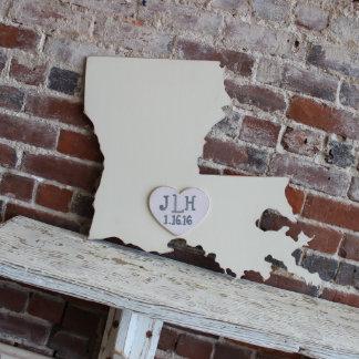 Custom Louisiana Wooden Wedding Guestbook