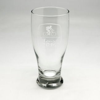 Custom Sand Etched Pub Glass #5