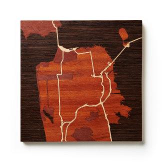 San Francisco, CA by Woodcut Maps