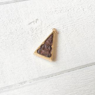 Prayer Amulet Pendant Necklace w/Dark Wood