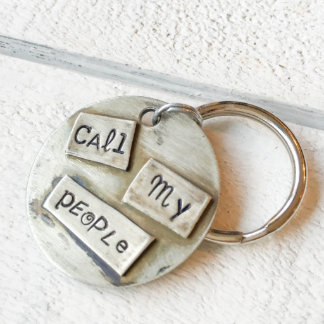 """Nickel Silver """"Call My People"""" Pet Tag"""