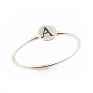 Sterling Silver Initial Stacking Ring