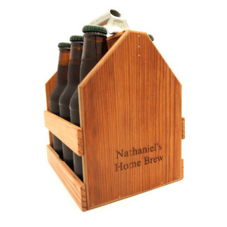 Personalized Wooden Six Pack Carrier