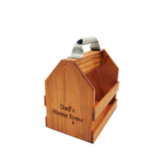 Wood Six Pack with Bottle Opener
