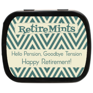 Wavy Personalized Retirement Mint Tins