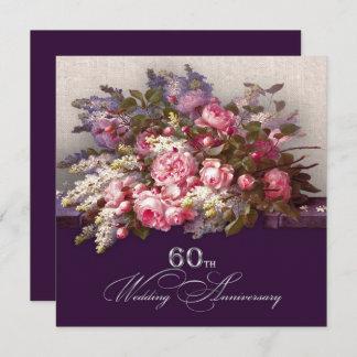 60th wedding anniversary invitations announcements zazzle. Black Bedroom Furniture Sets. Home Design Ideas
