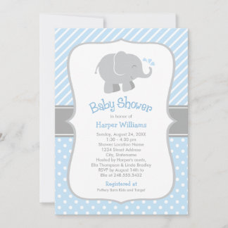 elephant themed baby shower invitations announcements zazzle