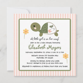 turtle baby shower invitations announcements zazzle