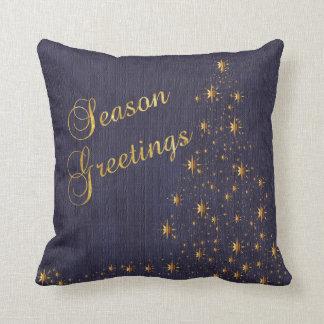 Blue and gold pillows decorative throw pillows zazzle for Blue and gold pillows