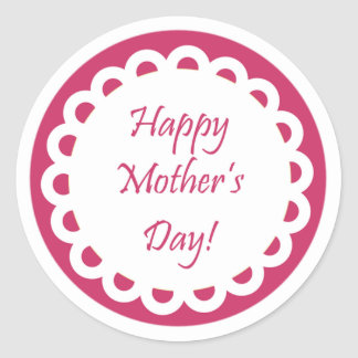 happy mothers day stickers zazzle. Black Bedroom Furniture Sets. Home Design Ideas