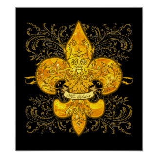 Louisiana Fleur De Lis Art Framed Artwork Zazzle