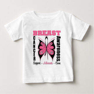 Breast cancer butterfly t shirts shirt designs zazzle for Breast cancer shirts ideas