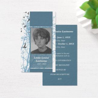 In memoriam business cards templates zazzle for In memoriam cards template